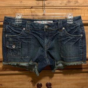 Like New Mossimo Low Rise Dark Denim Shorts